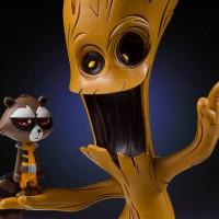 Skottie Young Marvel Babies Animated Rocket & Groot Statue!
