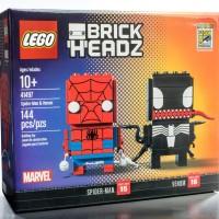 SDCC 2017 Exclusive LEGO Spider-Man & Venom BrickHeadz!