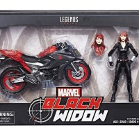 2018 Marvel Legends Black Widow Motorcycle Packaged Photo!
