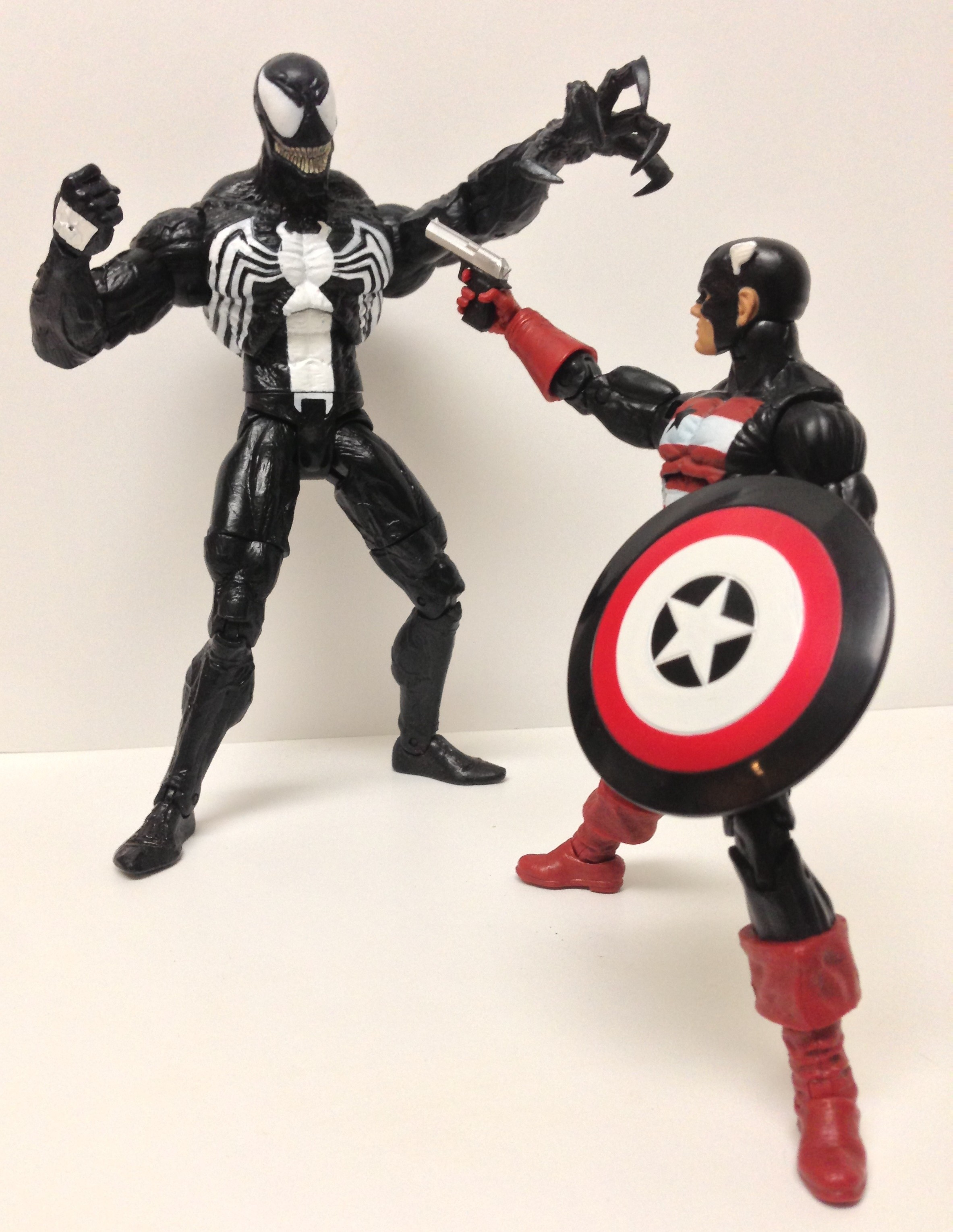 Marvel Select Venom vs. Marvel Legends US Agent Action Figures