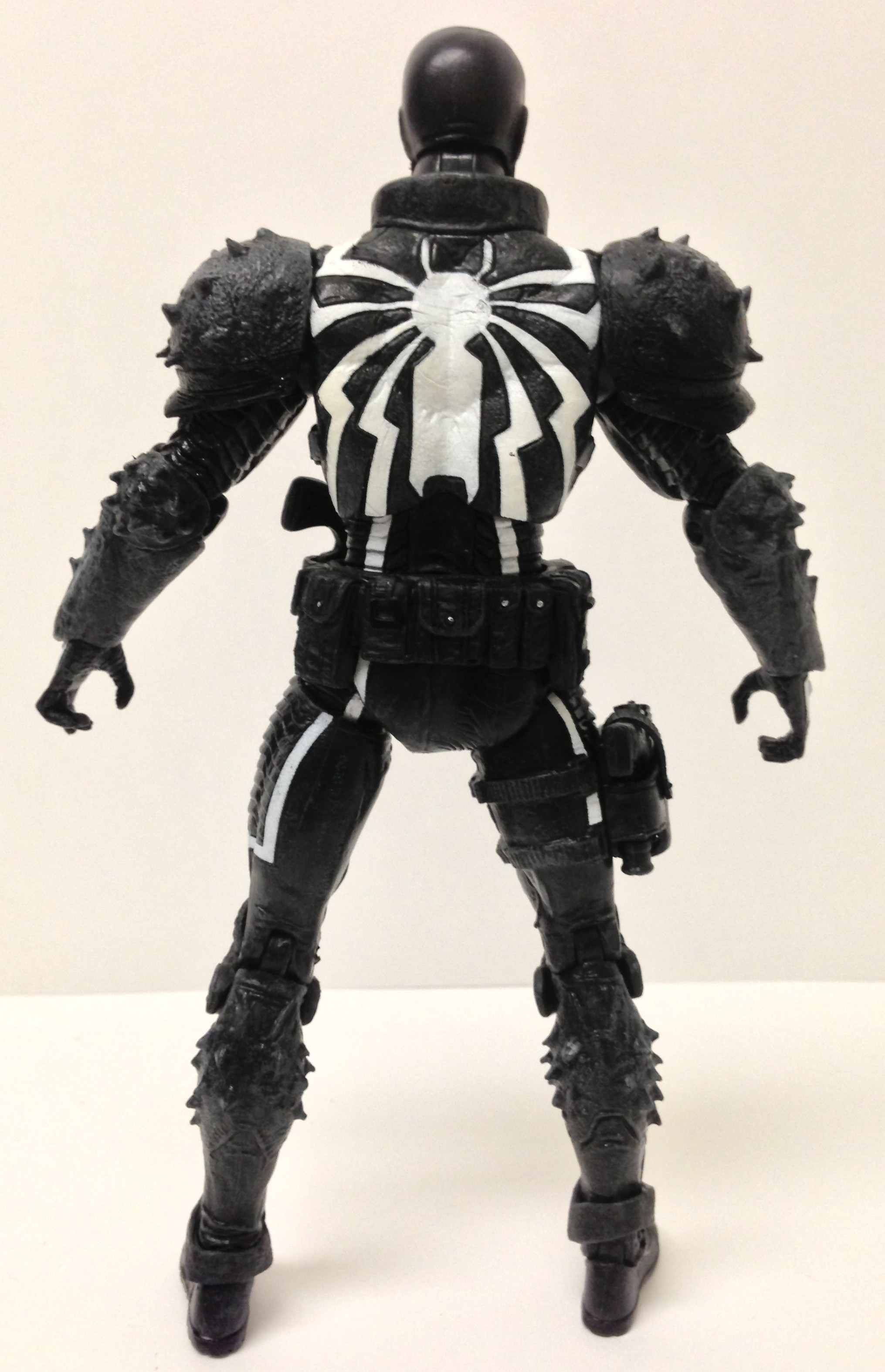 Back of Marvel Select Venom Flash Thompson Figure