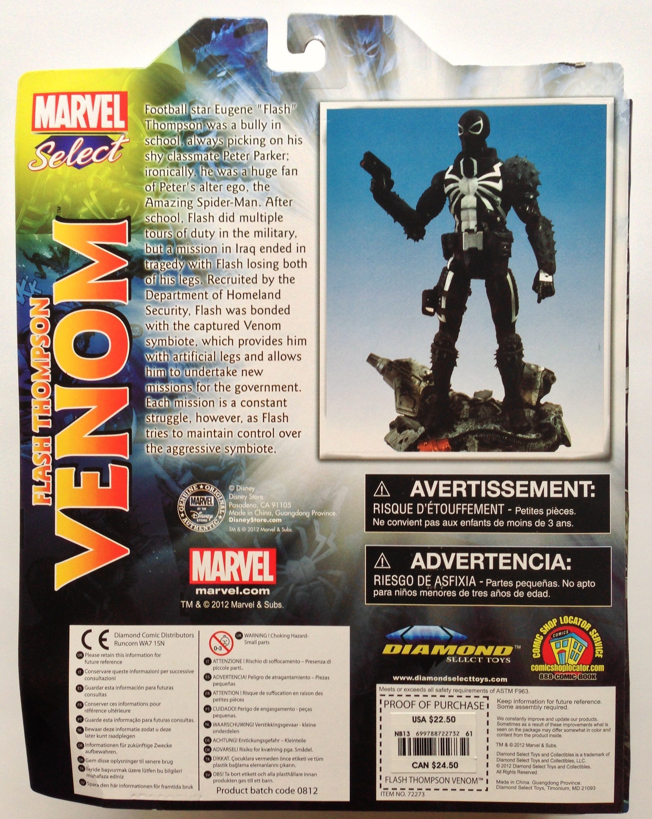 Cardback Marvel Select Agent Venom Action Figure