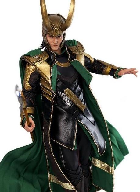 Avengers Hot Toys Loki Tom Hiddleston Movie Masterpiece with Staff