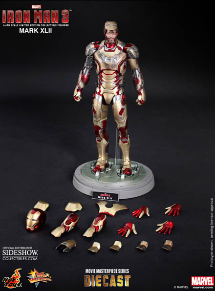 Hot Toys Iron Man Mark XLII Figure with All Accessories and Extra Parts