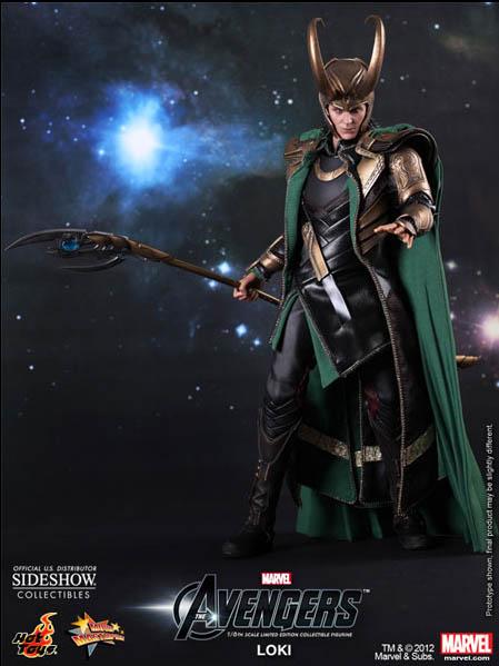 Hot Toys The Avengers Loki Movie Masterpiece Series Figure 2013