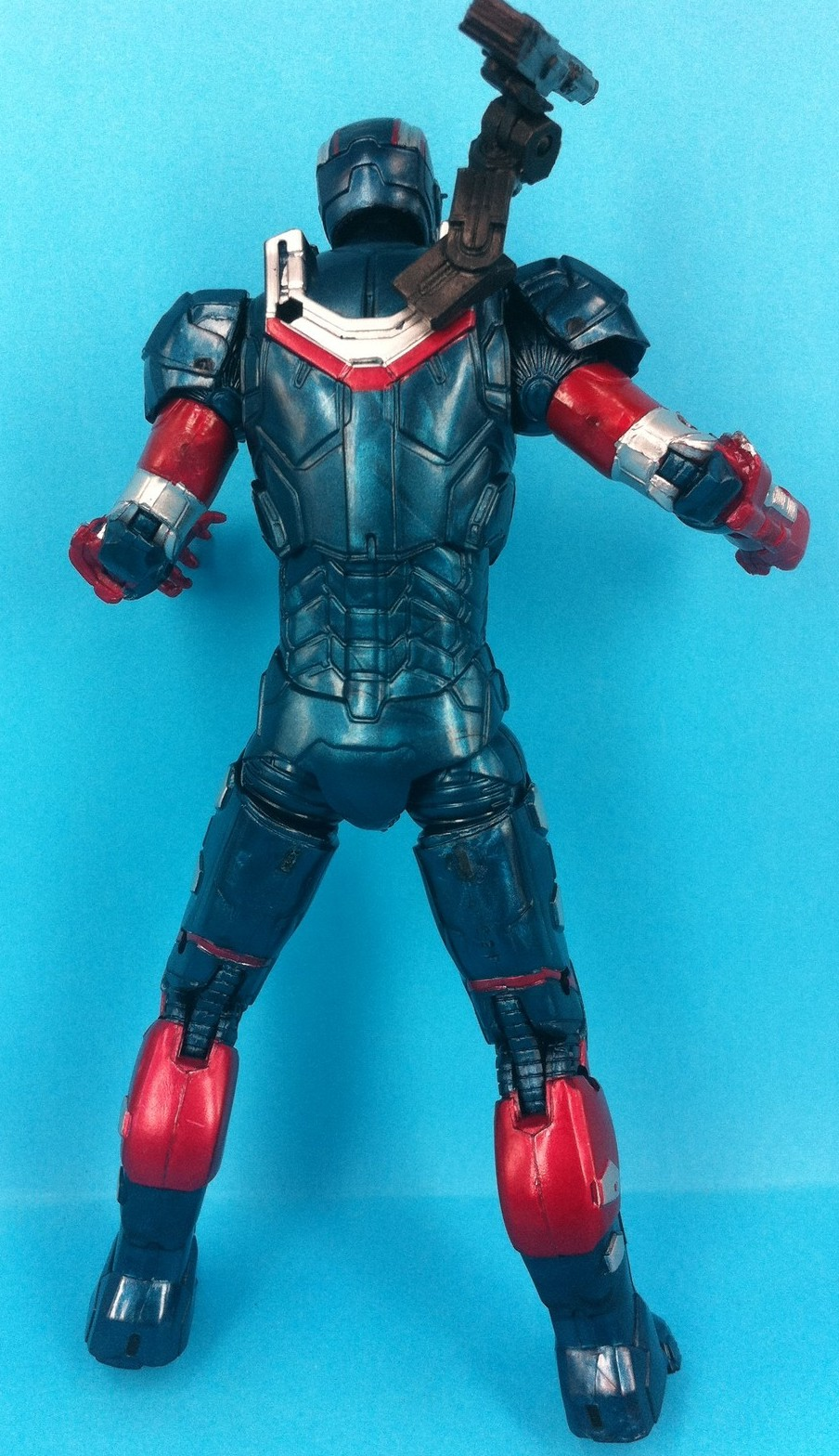 Iron Man 3 Iron Patriot Marvel Legends Figure Series 2 2013 Back
