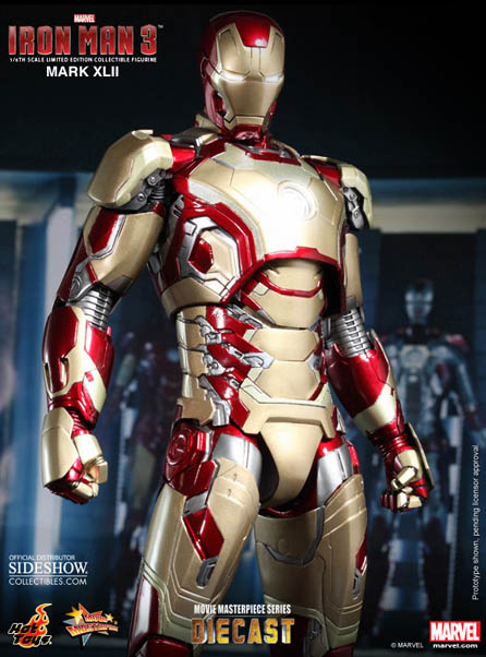 Sideshow Iron Man 3 Iron Man Mark XLII Hot Toys Figure