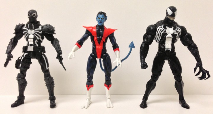 Marvel Select Scale Photo Size Comparison Nightcrawler and Venom