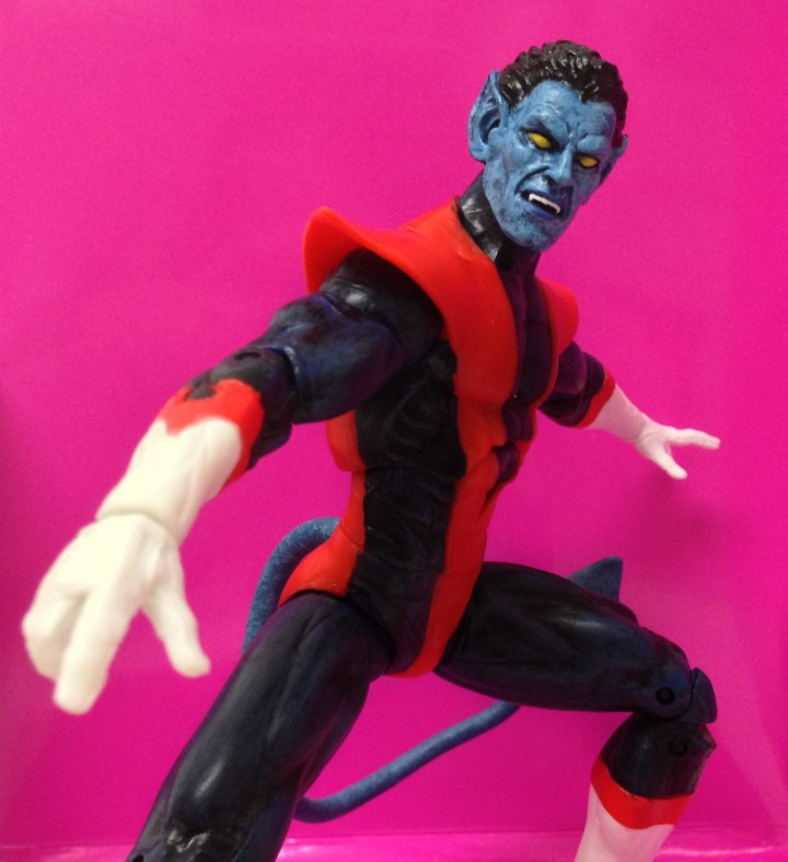 Close-Up of Art Asylum Nightcrawler Marvel Select Figure