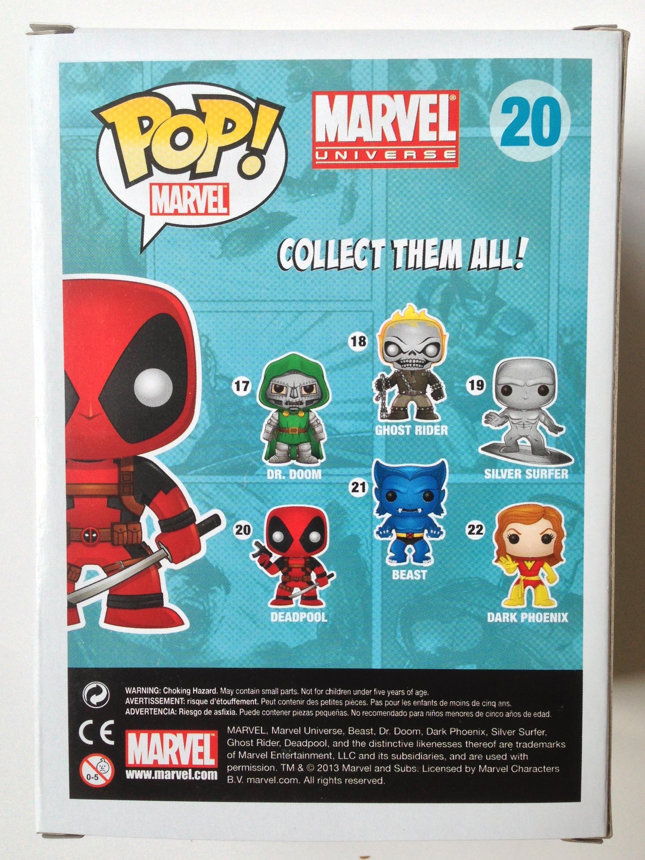 Inverse Deadpool POP Vinyl Box Back
