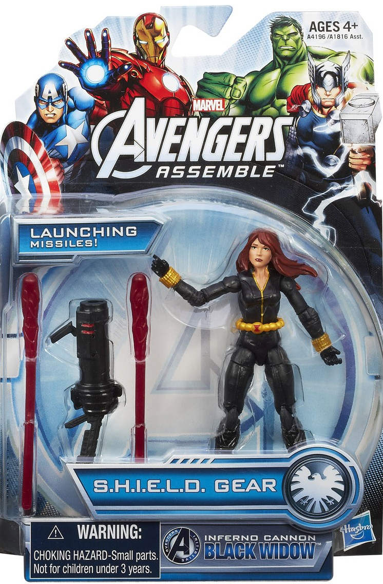 Avengers Assemble Black Widow Action Figure 3.75 Packaged