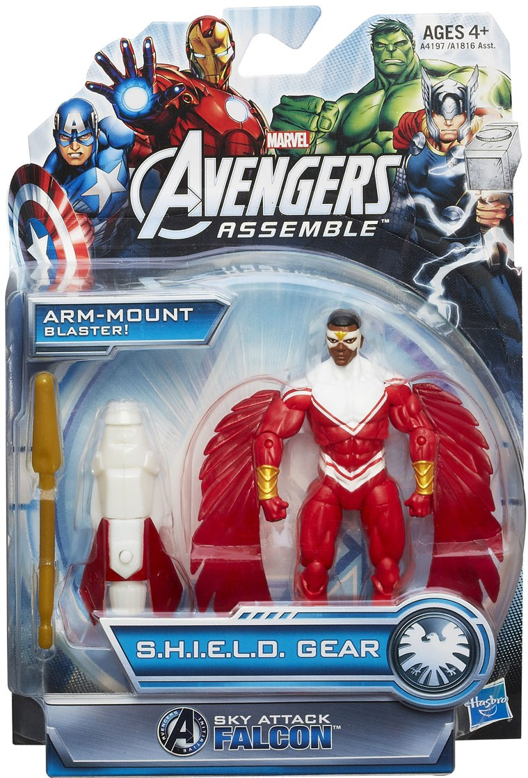 Avengers Assemble Falcon Sky Attack Hasbro Figure Packaged