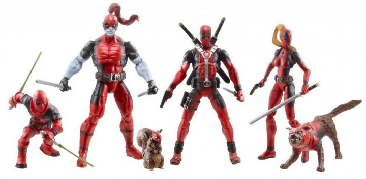 Hasbro Comic-Con 2013 Deadpool Corps Exclusive Set Marvel Universe Figures