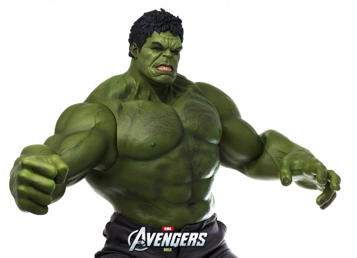 Hulk Hot Toys Figure with Both Fists and Open Hands