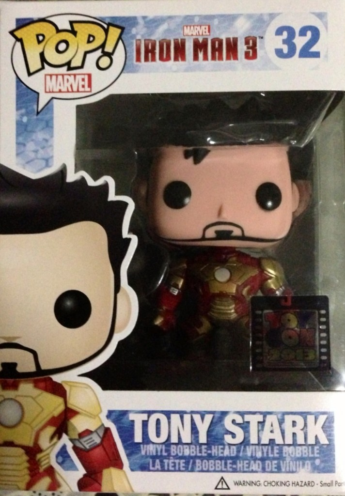 TONY STARK IRON MAN UNMASKED FUNKO POP VINYL MARVEL EXCLUSIVE