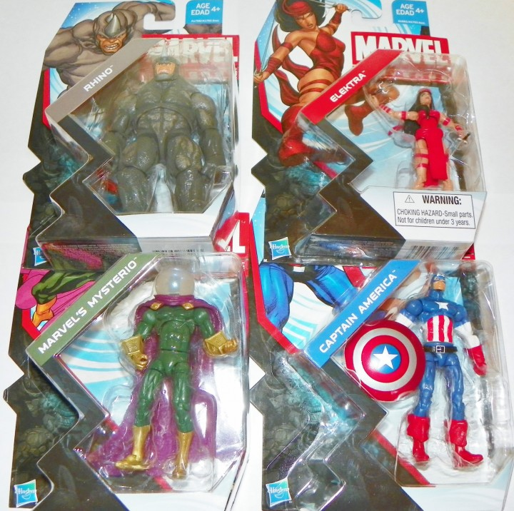 2013 Marvel Universe Wave 22 Set Carded Elektra Rhino Mysterio Captain America
