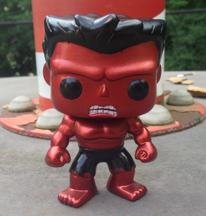 Funko Comic Con 2013 Exclusive Red Hulk Metallic Figure