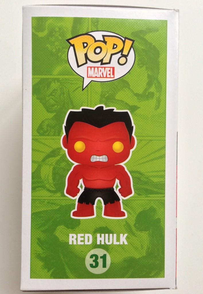 Marvel POP! Vinyl Red Hulk Side of Box