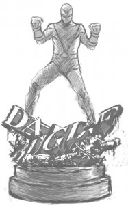 Bowen Designs Shocker Statue Concept Sketch Photo