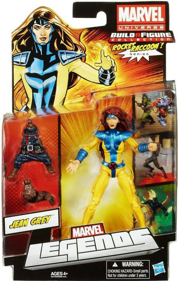 Marvel Legends Jean Grey Jim Lee 90's Variant 2013 Series 2 Wave 5 Rocket Raccoon