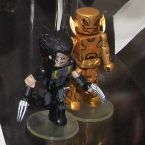Marvel Minimates Age of Ultron Wolverine and Gold Ultron Toys R Us Exclusive Figures Wave 18