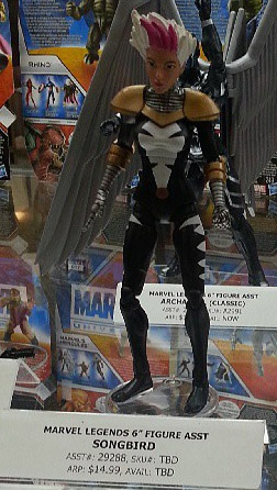 SDCC 2013 Marvel Legends Songbird Figure in Display Case