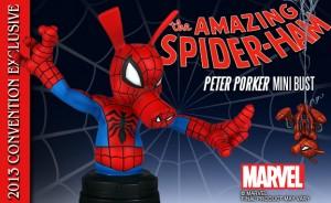 SDCC 2013 Spider-Ham Mini Bust Gentle Giant LTD Exclusives