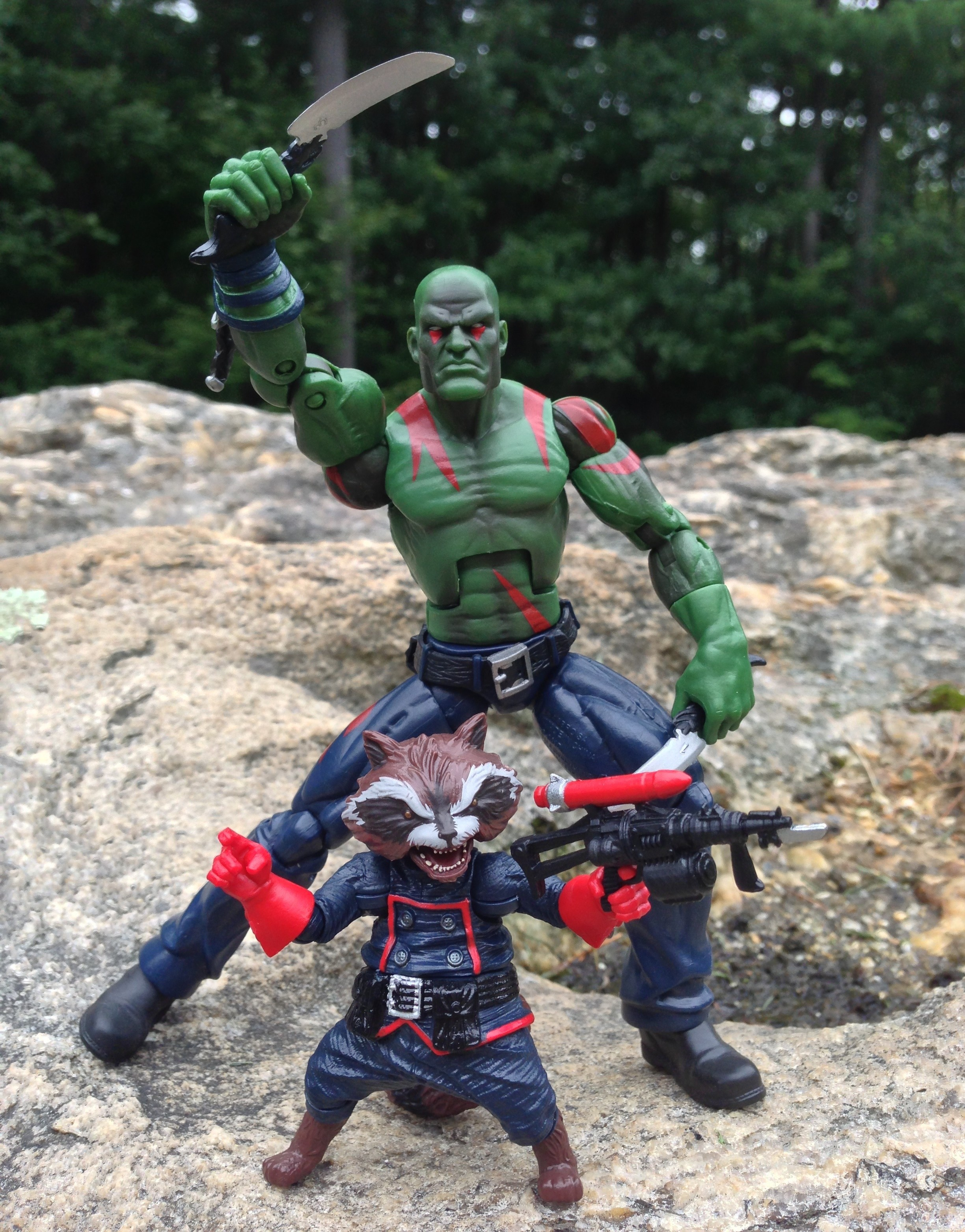 Marvel Legends Guardians of the Galaxy Figures Drax and Rocket Raccoon