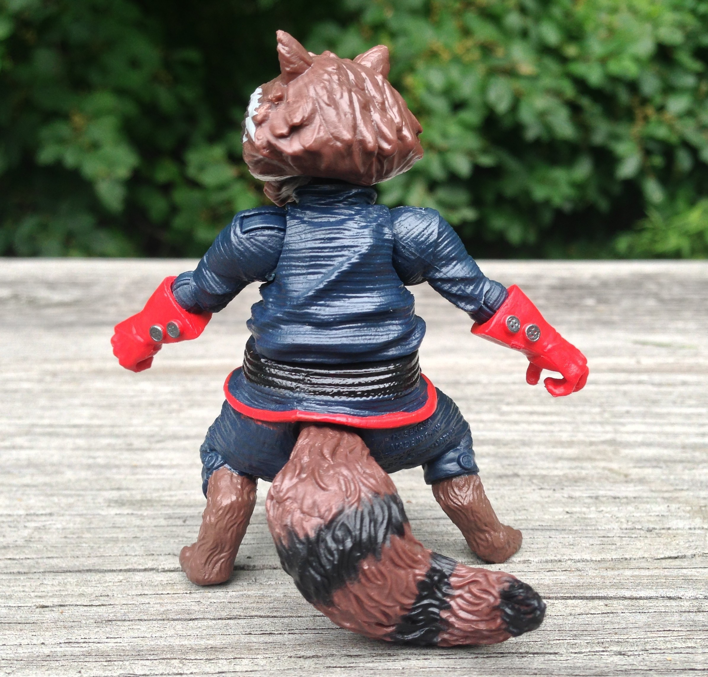 Back of Rocket Raccoon Build-A-Figure Marvel Legends Hasbro