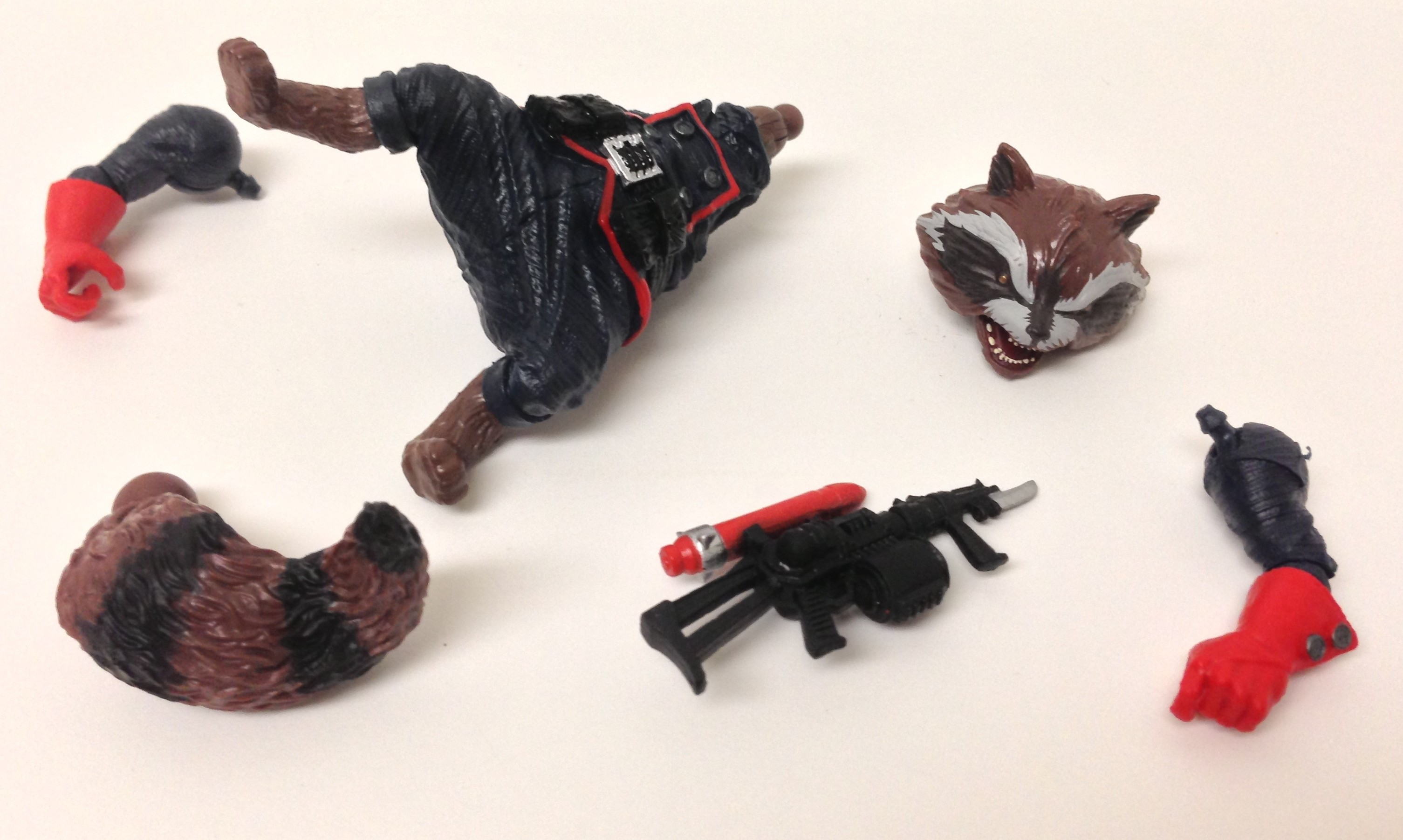 Rocket Raccoon Pieces Marvel Legends Wave 5