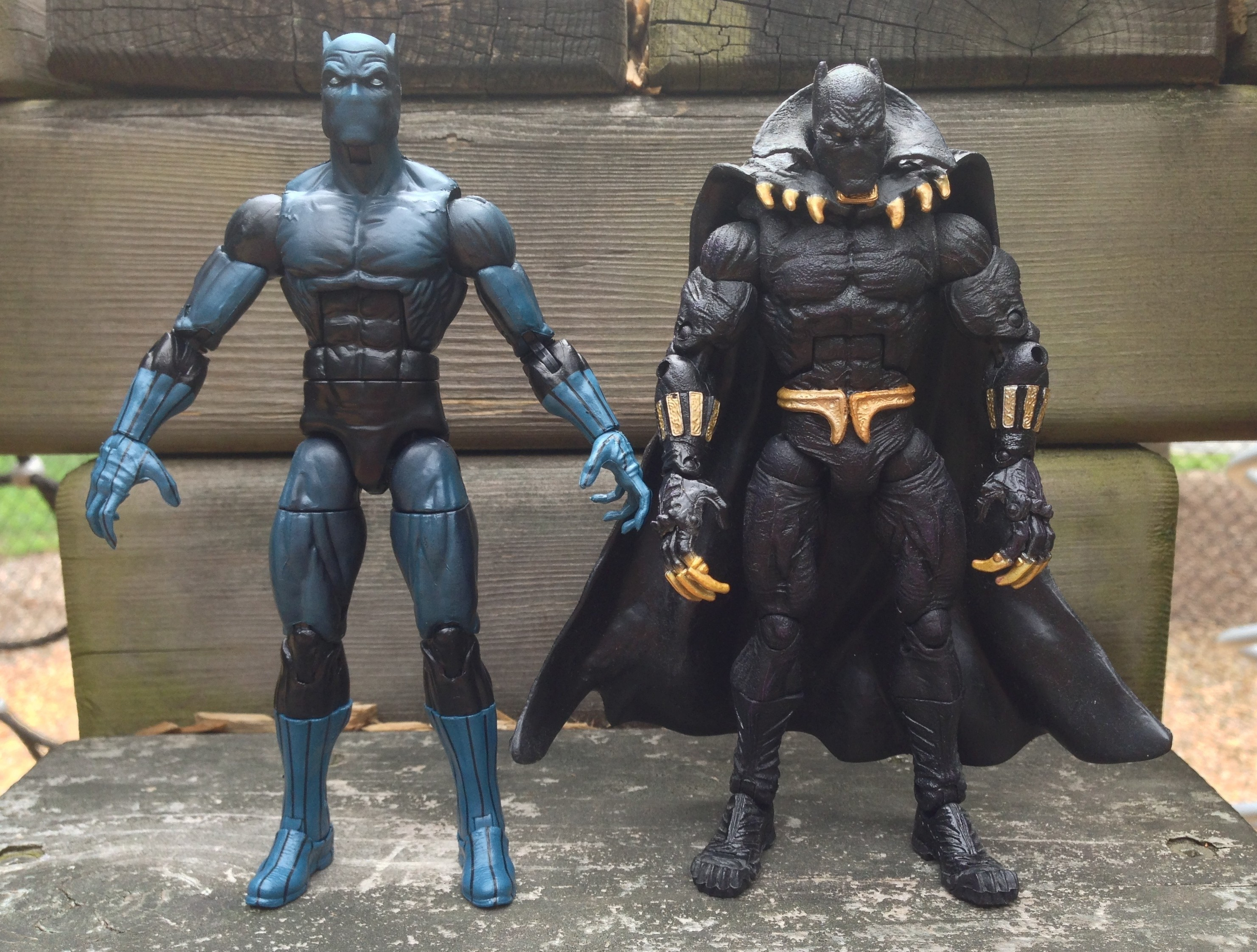 Marvel Legends Black Panther Comparison Toybiz vs. Hasbro 2013