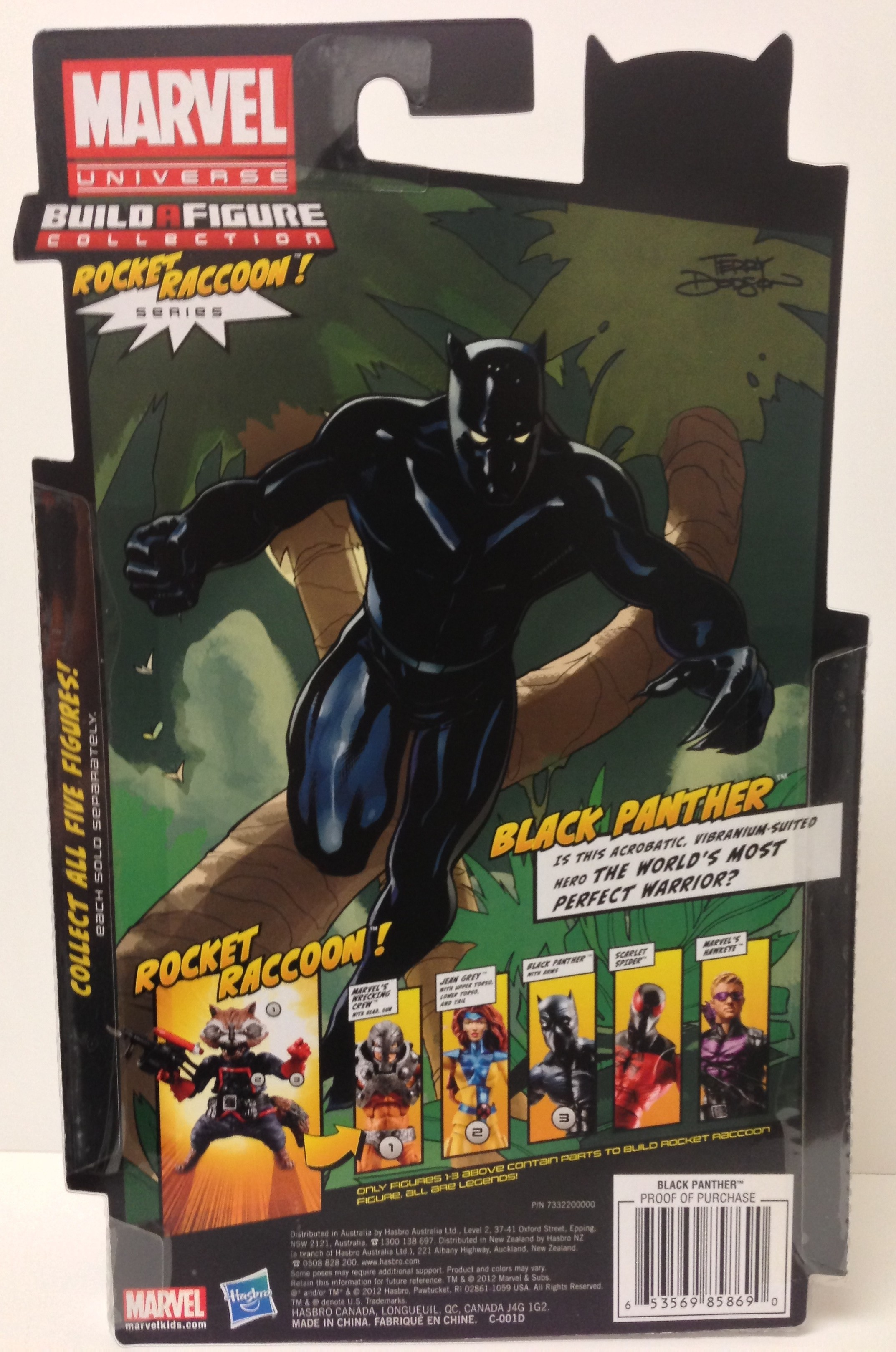 Marvel Legends Black Panther Cardback