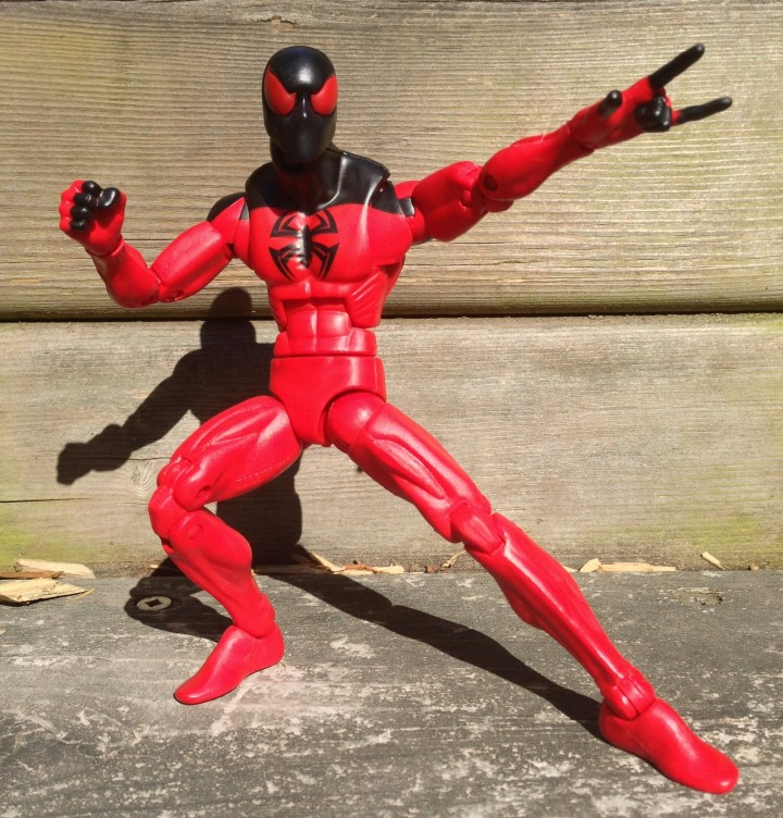 Scarlet Spider Marvel Legends Rocket Raccoon Series Figure