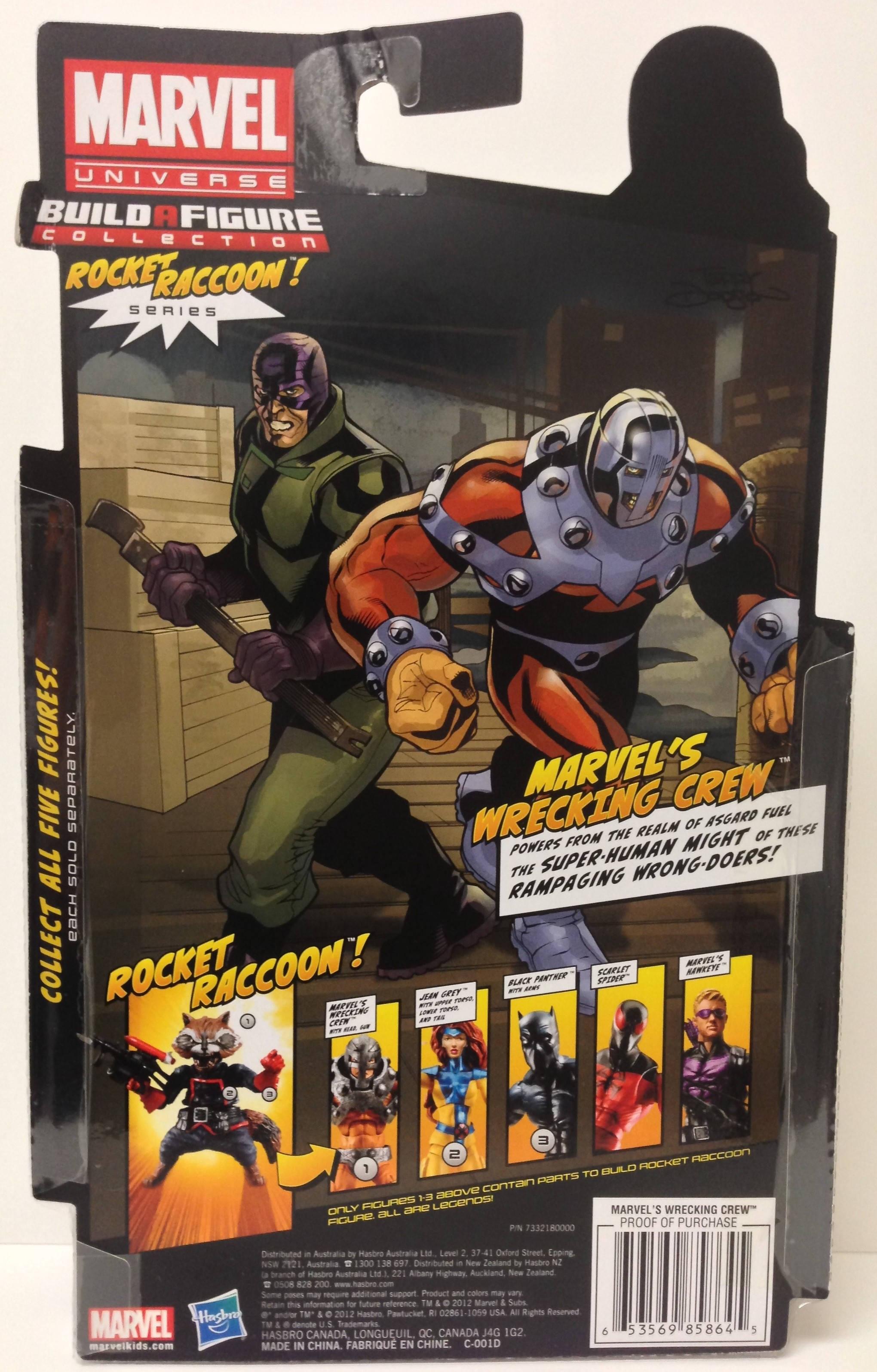 Cardback Marvel Legends The Wrecker and Bulldozer Figures 2013