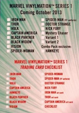 Disney Vinylmation Marvel Series 1 Figures Checklist October 2013
