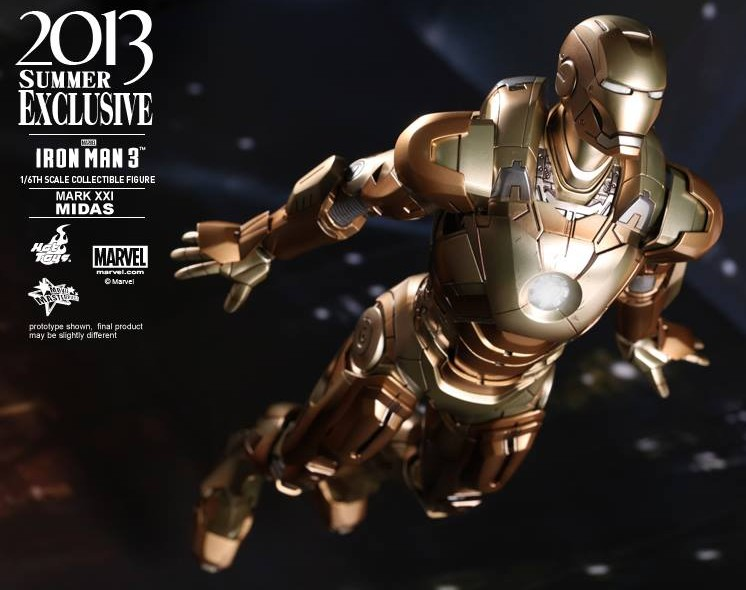 Hot Toys Iron Man 3 Iron Man Mark XXXI Midas Armor Toy Fairs Exclusive Figure