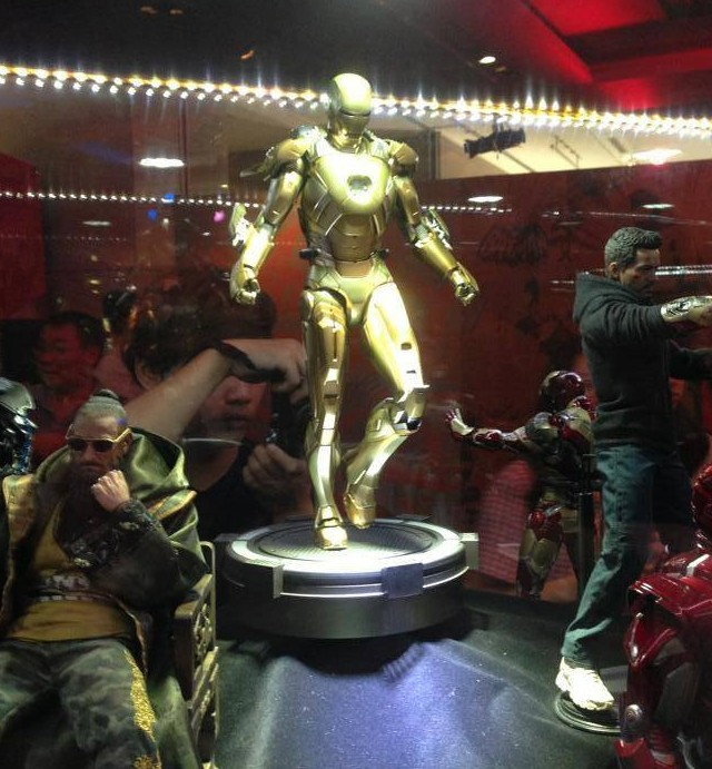 Iron Man 3 Hot Toys Display Mandarin Midas Iron Man Mechanic Tony Stark