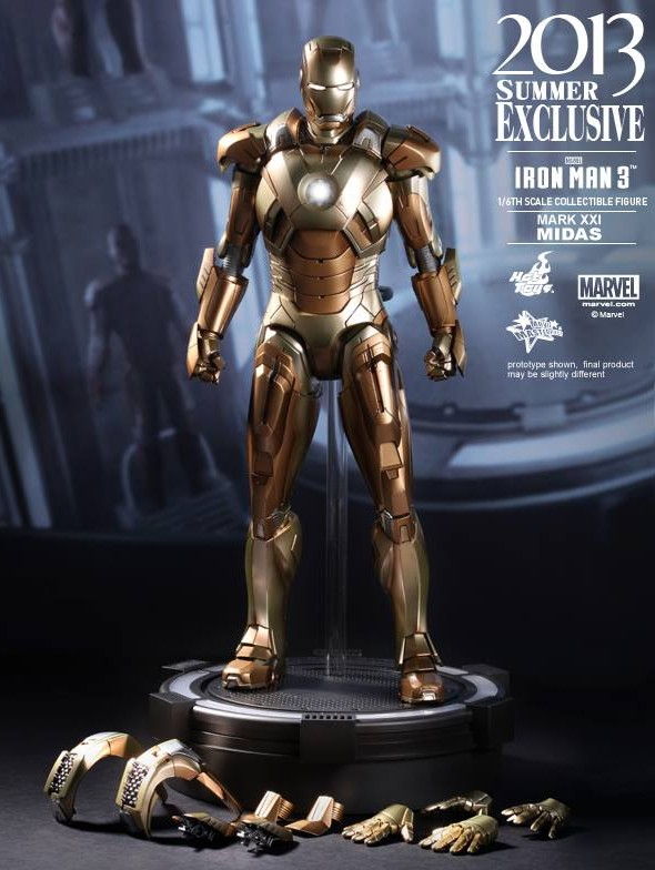 Iron Man 3 Hot Toys Midas Iron Man with Accessories