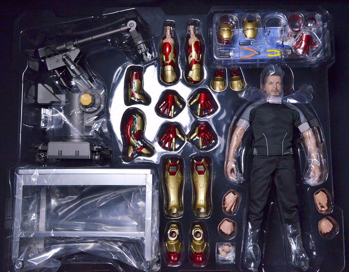 Iron Man 3 Toys ~ Hot toys iron man tony stark figure released marvel