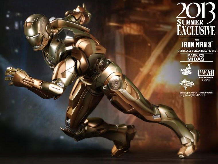 Iron Man Midas Hot Toys Figure Exclusive 2013 Gold Armor