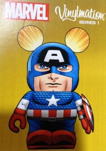Marvel Vinylmation Series 1 Captain America Trading Card Photo D23 Expo 2013