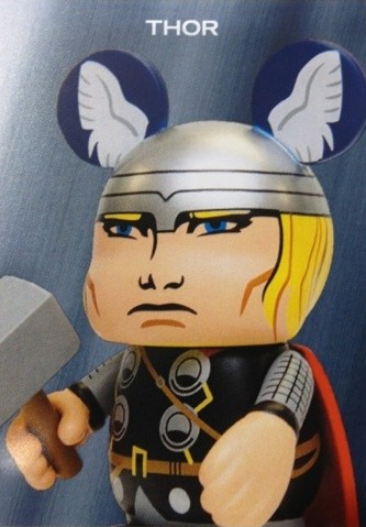 Marvel Vinylmation Series 1 Thor Figure Trading Card Photo