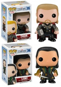 Thor The Dark World Funko POP! Vinyl Figures Loki and Thor