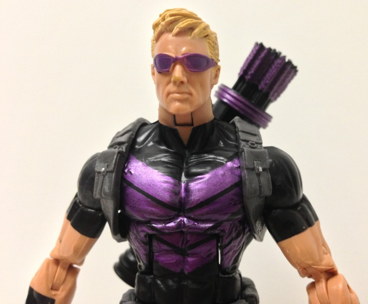 Marvel NOW Hawkeye Figure Head Close-Up Hasbro 2013