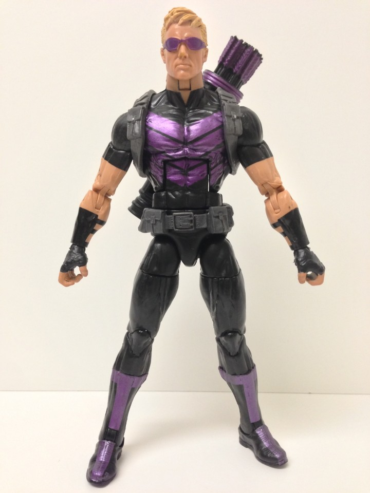 Marvel Legends 2013 Hawkeye Action Figure Front Marvel Now Modern
