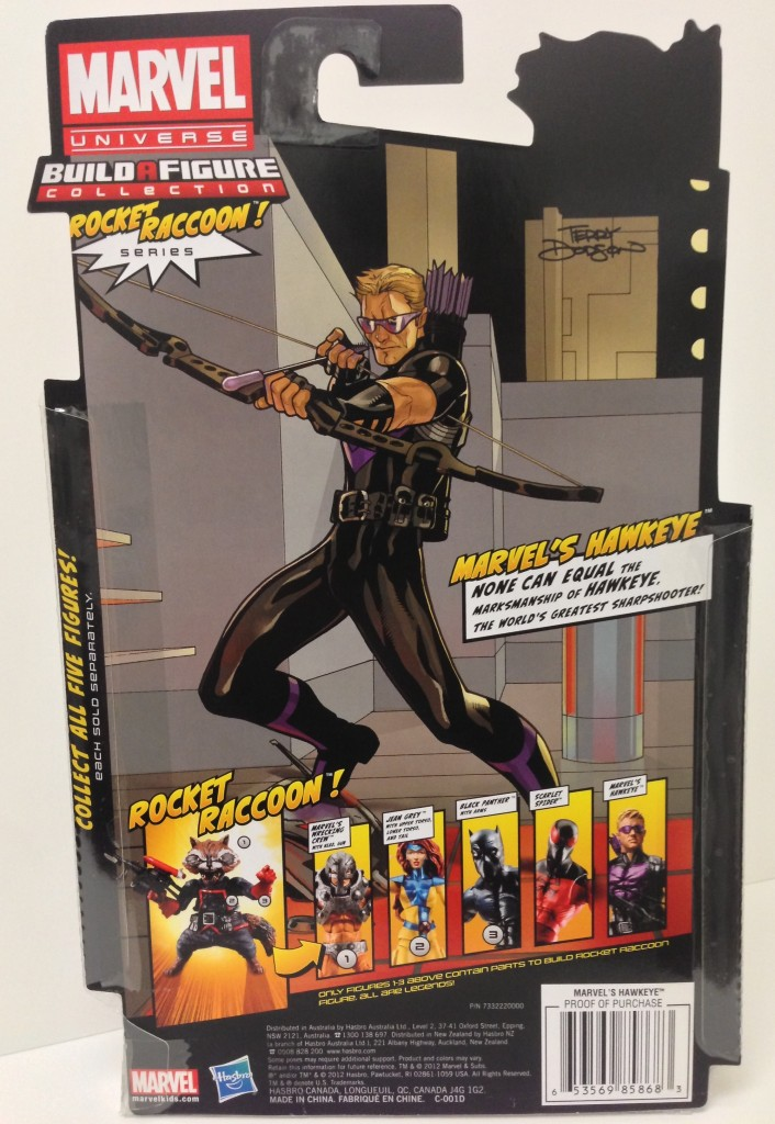 Marvel Legends 2013 Modern Hawkeye Cardback