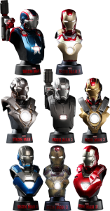 Hot Toys Iron Man 3 Busts Set Deluxe Set of 8