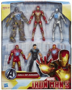 Iron Man 3 Hall of Armor Action Figure Set Amazon Exclusive with Tony Stark Figure