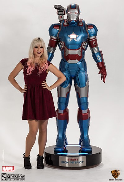 Iron Man 3 Patriot Die Cast Figure 12 Hot Toys
