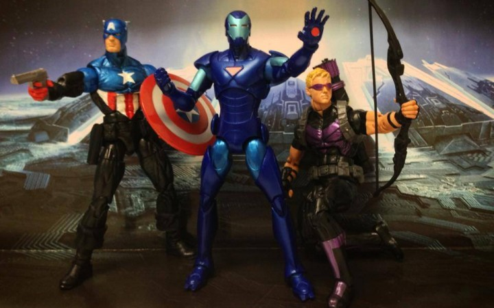 Marvel Legends 2013 Hawkeye Captain America Iron Man Figures Hasbro
